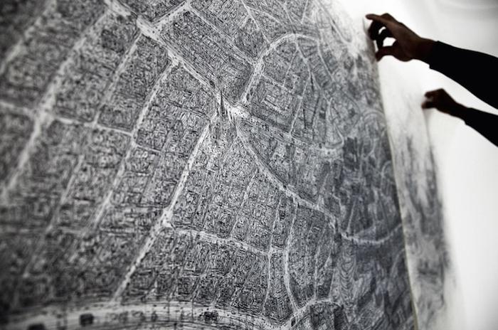 Рисунки, выполненные с картографической точностью.