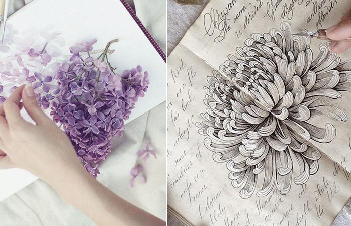Мистический скетчбук московской художницы Елены Лимкиной.