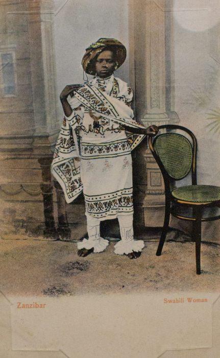 Женщина суахили, Занзибар.