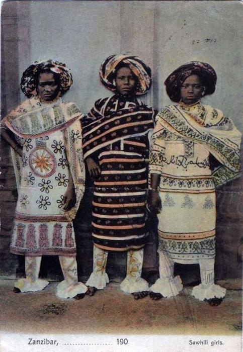 Женщины суахили, Занзибар.