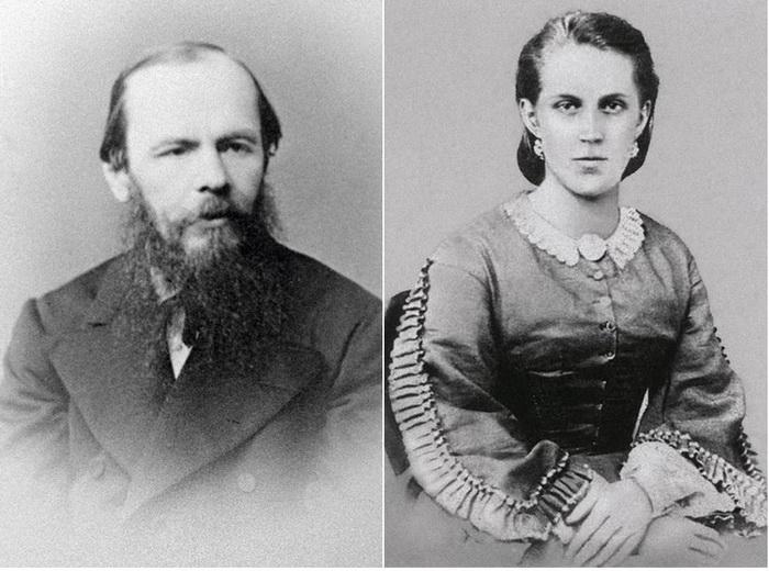 Федор Достоевский и его вторая жена Анна Сниткина