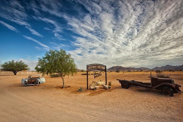 Деревня Солитаир - оазис рядом с пустыней Намиб