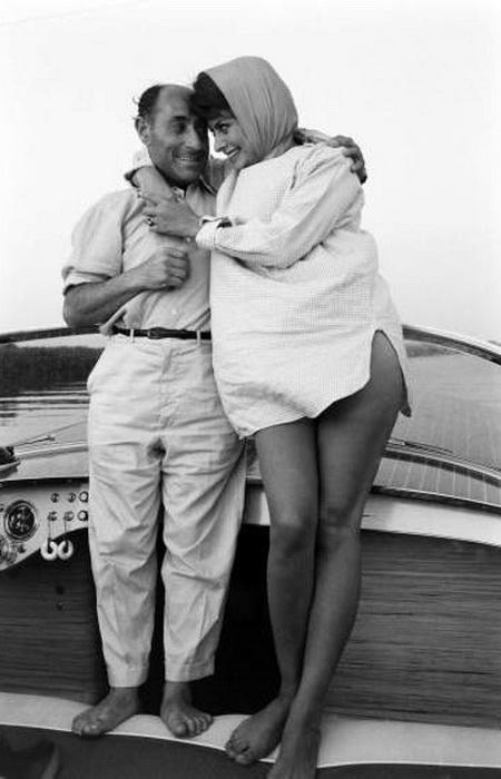 Софи Лорен с Альфредом Эйзенштадтом, Италия, 1961 год