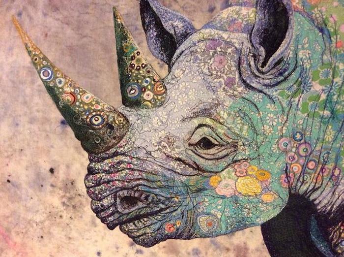 Коллажа из ткани: работа художницы Софии Стэндинг (Sophie Standing)