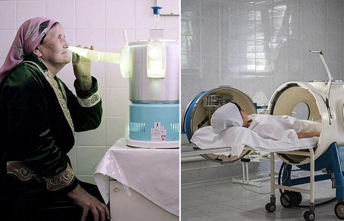 Фотоцикл о советских санаториях.