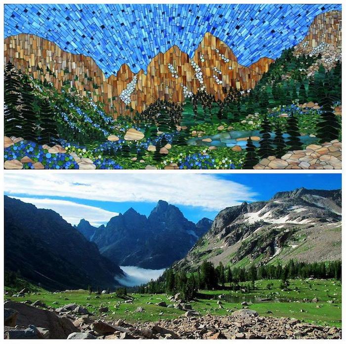 Живописные пейзажи Америки на мозаиках от Kasia Polkowska