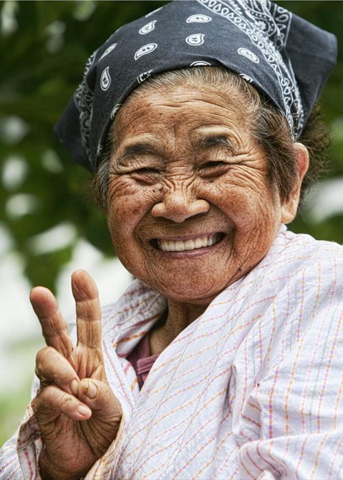Долгожительница с острова Окинава.