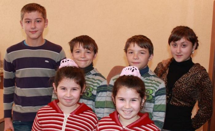 Жители украинского села Великая Копаня.