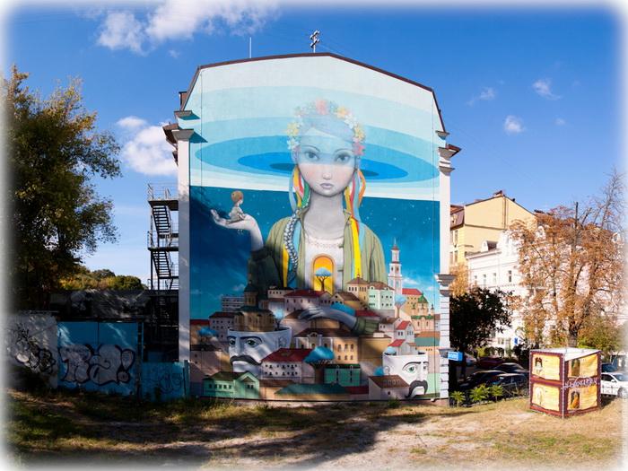 Авторы граффити - француз Жюльен Маллан (Seth) и севастополец Алексей Кислов