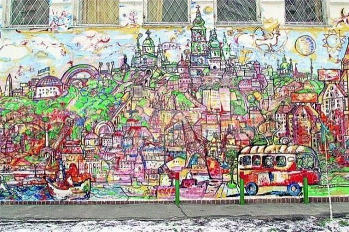 Киевский пейзаж от Михаила Химича на Оболони