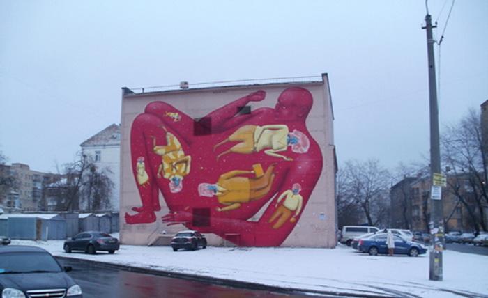 Авторы граффити об аутизме - украинский арт-дуэт «Interesni Kazki»