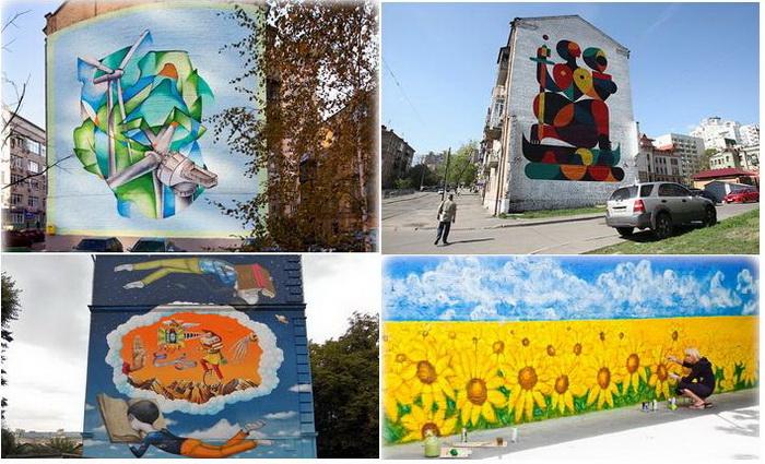 Многообразие граффити на улицах Киева