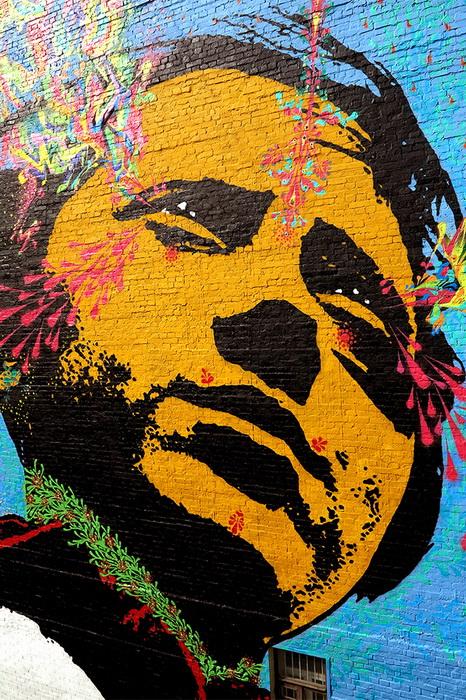 Оригинальное граффити от Stinkfish, Колумбия