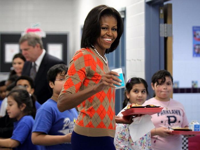 Мишель Обама предпочитает вегетарианскую пиццу.