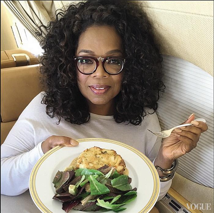 Опра Уинфри на диете: салат и суп.