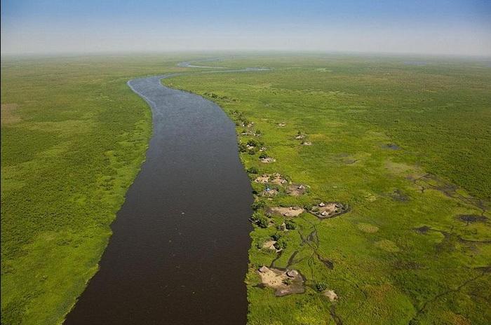 Экологическая проблема: пересыхание болот в области садд (Южный Судан) из-за строительства речного канала
