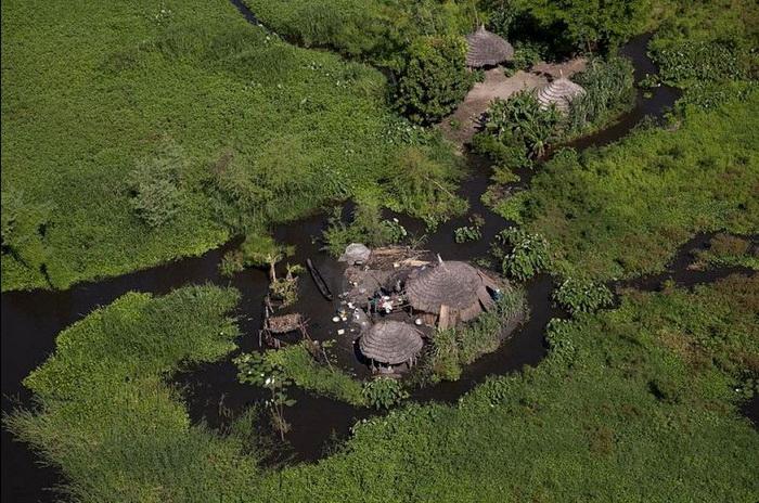 Область садд в Южном Судане - настоящий природный заповедник