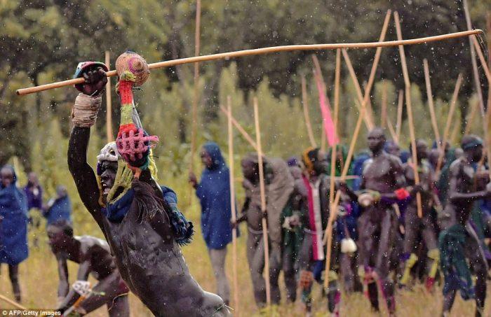 Сури - дружелюбное племя, но все равно вынуждено защищать свой скот.