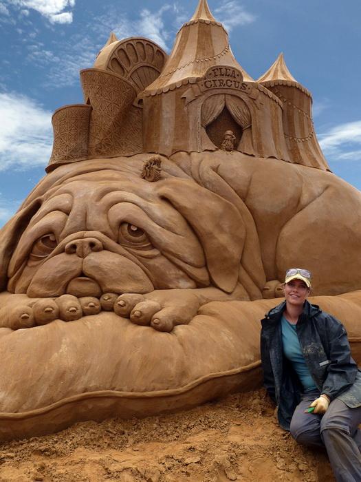 Susanne Ruseler и ее скульптуры из песка