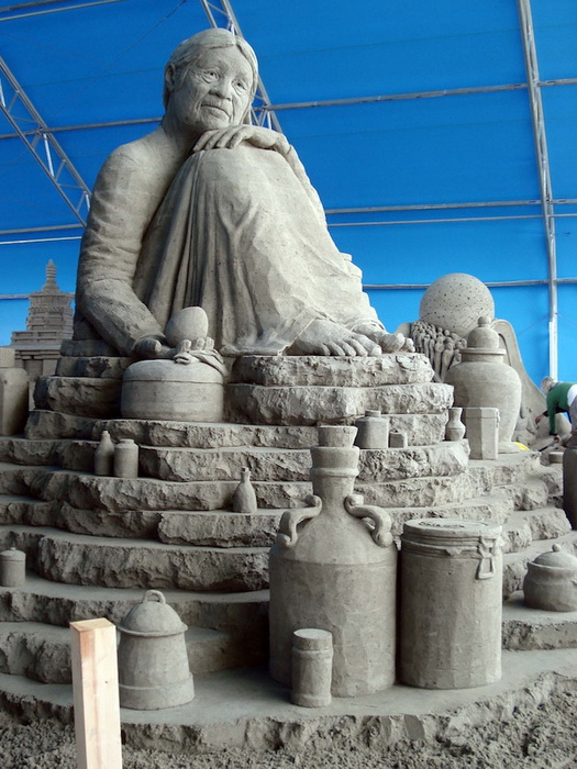 Скульптуры из песка от Сюзанны Раселер (Susanne Ruseler) 74914