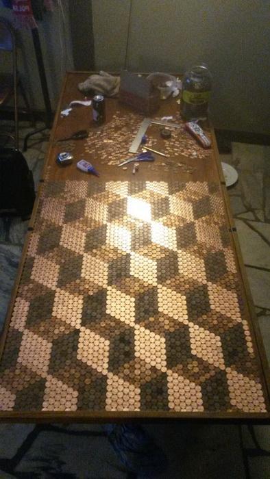 Процесс декорирования столешницы