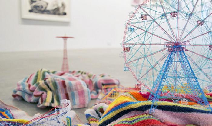 Скульптуры из ниток от японского художника Takahiro Iwasaki