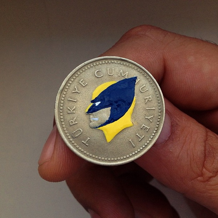 Забавные портреты на монетах от Андре Леви (Andre Levy)