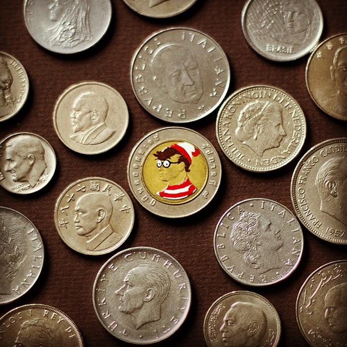 Андре Леви преображает привычные монеты