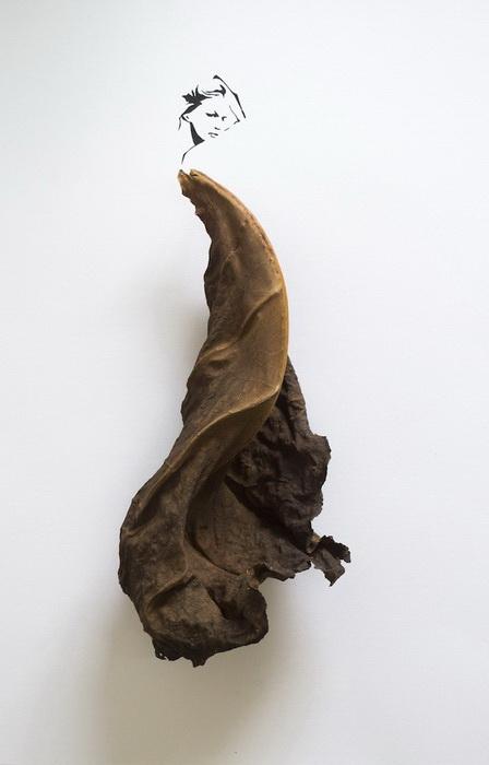 Fashion in Leaf: эскизы платьев из листьев от Tang Chiew Ling