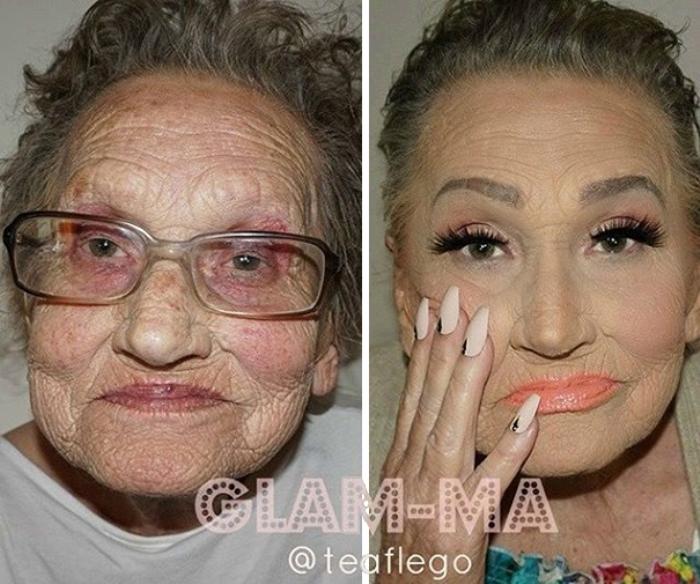 красивый макияж до и после фото