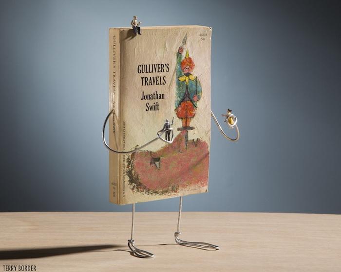 Скульптура из книги о путешествиях Гулливера