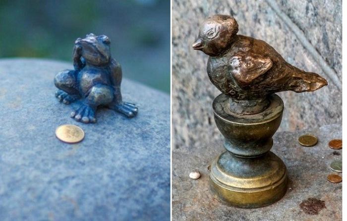Лягушка-путешественница и Чижик-Пыжик - самые маленькие памятники в мире