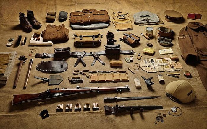 Битва на Сомме. 1916 г. Экипировка рядового солдата. Фотопроект Тома Аткинсона (Thom Atkinson)