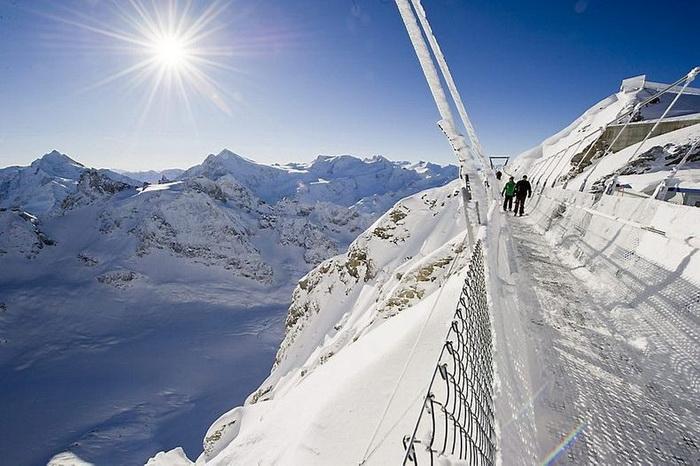 Titlis Cliff Walk - самый высокий в мире подвесной мост (Швейцария)