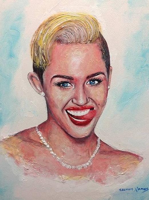 Портреты знаменитостей, нарисованные зубной пастой