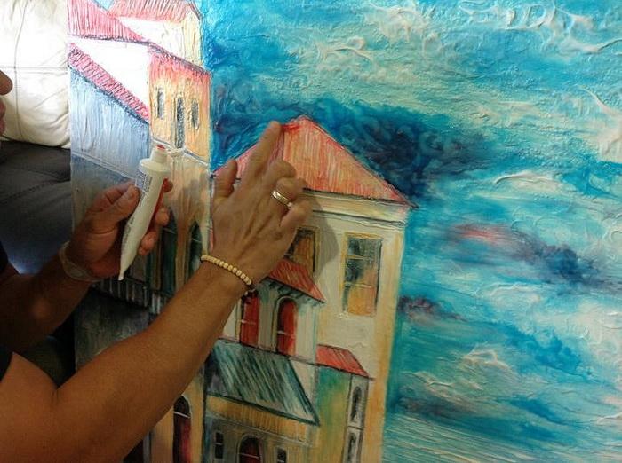 Рисунки зубной пастой: необычная живопись от Кристиама Рамоса (Cristiam Ramos)