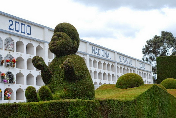 Кладбище-топиарий в Тулькане (Эквадор)