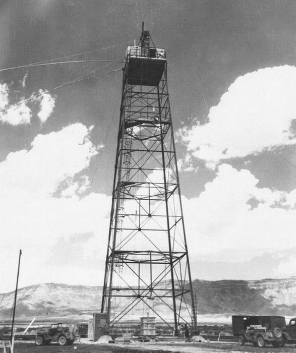 Башня, на которой была установлена бомба