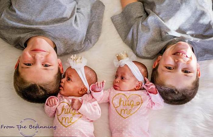 Две крохи-принцессы и их старшие братья.