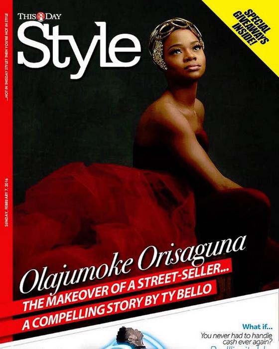 Портрет Olajumoke Orisaguna появился на обложке глянцевого издания