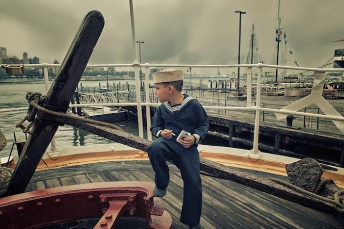 Моряк в увольнении. 1940-е г. Ретро-фотографии от Тайлера Орехек (Tyler Orehek)