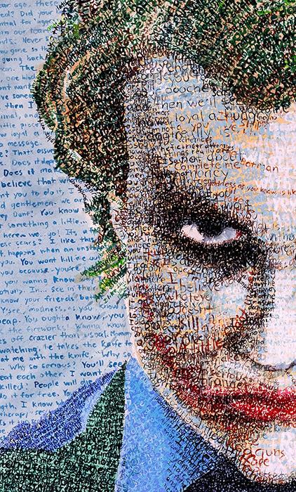 Портрет, выполненный цветными ручками.