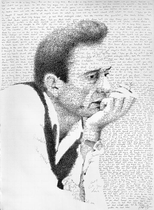 Портрет Джонни Кэш.