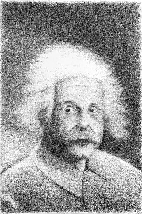 Портрет Альберта Эйнштейна.