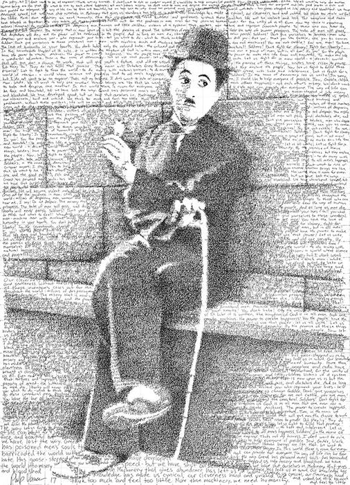 Портрет Чарли Чаплина.