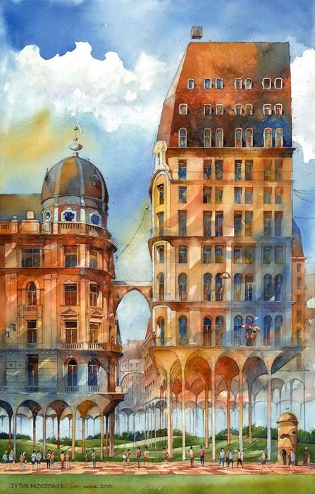 Воздушные акварели польского художника