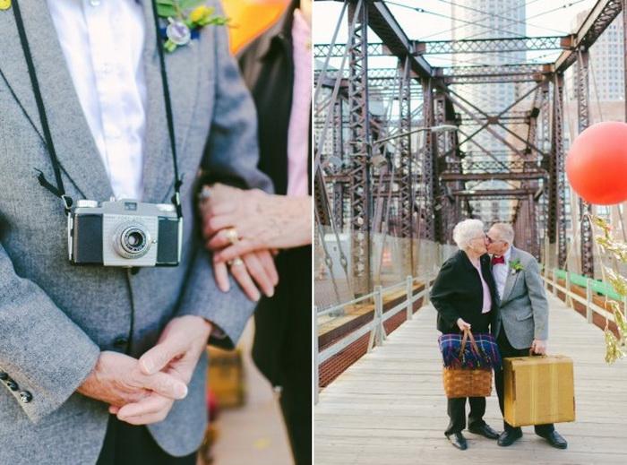 Романтическая фотосессия пары, прожившей в браке 61 год