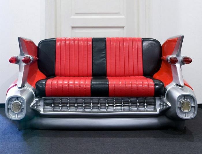Мебель, стилизованная под автомобили, - настоящая дизайнерская находка