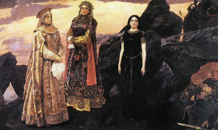 Три царевны подземного царства, Виктор Васнецов
