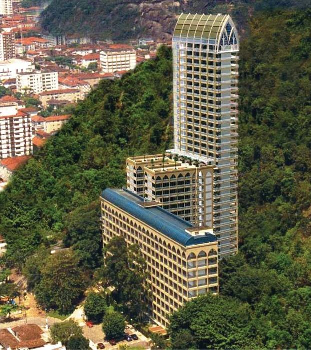 Самое высокое в мире кладбище в Сантосе (Бразилия).